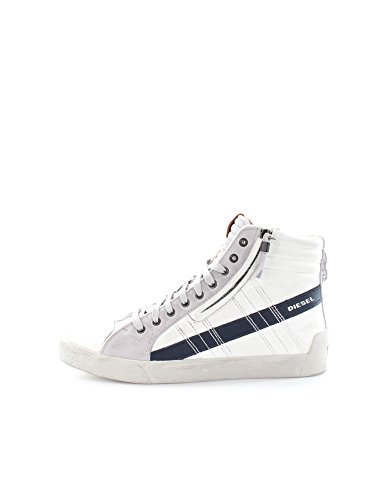 DIESEL Y01169 P0919 D-STRING WHITE BLUE SNEAKERS Uomo WHITE BLUE 44