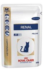 Royal Canin Veterinary Diet Renal Wet Feline 48 x 85g beef sachet