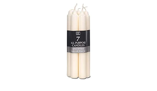 """Darice Unscented Taper Candles 12/"""" 2//Pkg-Ivory"""