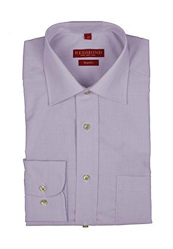 Bügelfreies chemise à manches longues pour homme-différents fil à fil farbmustern, finition :  regular fit marque rEDMOND 200 (100) Lila (80)