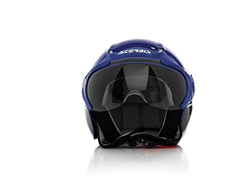 Acerbis Casco X-Jet On Bike, Blu/Verde, S