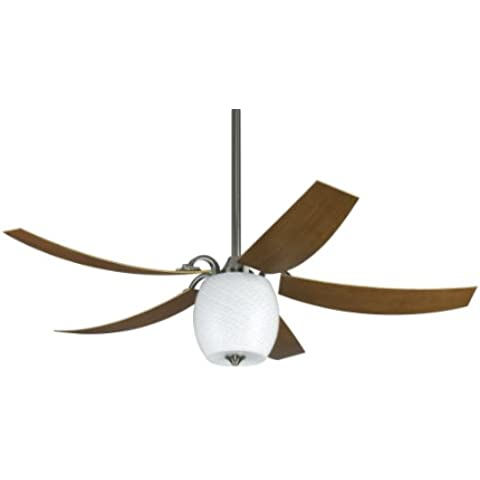 CASA BRUNO ventilador de techo Mariano, estaño cromado, con luz