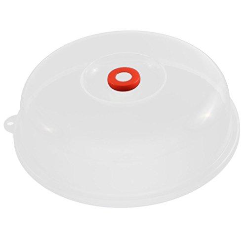 Mikrowelle Vent-Loch-Design Kunststoff-Platten-Abdeckung Deckel klare orange