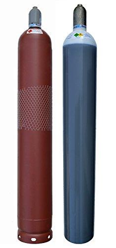 Acetylen + Sauerstoff Gasflaschen Pärchen 50 Liter Eigentumsflasche Neutral