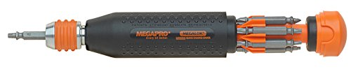 Megapro 15 181 ML 14-in-1 megalok Driver, Schwarz Orange Combo Driver Bits