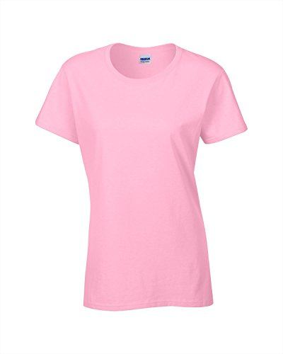 Gildan Heavy Cotton Womens Tshirt - Light Pink - UK 14-16 / US 10-12 / EU 42-44 (Womens Light T-shirt Weihnachten)