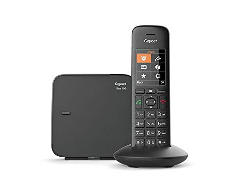 Gigaset C570 - Teléfono (Teléfono DECT, Terminal inalámbrico, Altavoz, 200 entradas, Identificador de Llamadas, Negro)