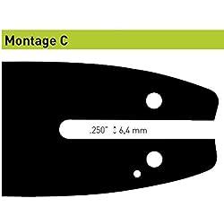 Guide OZAKI Pro STEEL - Jauge: .050''(1.3 mm) Pas: 3/8'' Empreinte: C - Longueur guide: 8'' (20 cm)