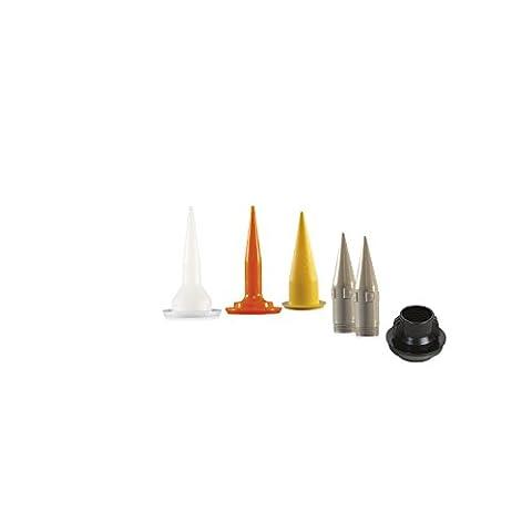 Cox 7N1833Lot de 5douilles en plastique pour applicateurs de mastic avec 1porte-buse