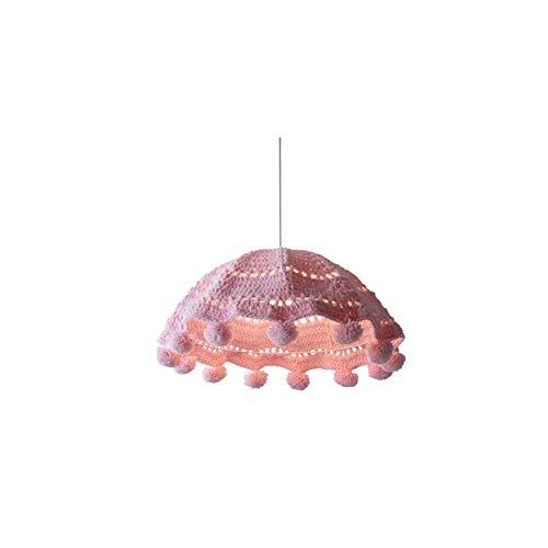 LED-BeAu Handgewebter Kronleuchter Schlafzimmer Junge Prinzessin Zimmer Mädchen Kreative Kunst Rattan Baumwollfaden,Blau -