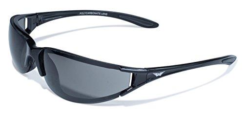 Global Vision Eyewear T-4Serie mit glänzend schwarz Rahmen und Smoke Objektive -