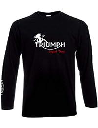 Planète motard - Tee Shirt Moto Triumph - English Devil - Manches Longues 7c89507766be