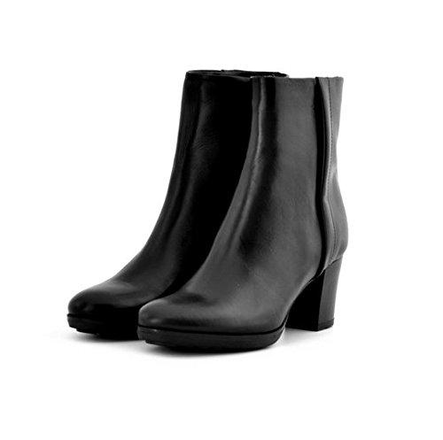 Scarpe stivaletti donna Manas numero 37 152M0827LQNERO in pelle nera tacco comodo