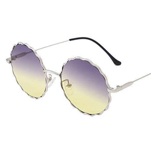 Westeng Sonnenbrillen Sonnenbrillen für Damen Metallrahmen Retro-Stil Blumenmuster (2)