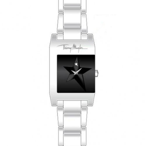 Thierry Mugler 4709501 - Reloj analógico de cuarzo para mujer con correa de acero inoxidable, color plateado