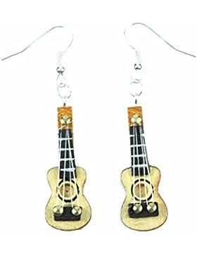 Gitarre Ohrringe Hänger Miniblings Gitarrenohrringe Gitarren Musik Musiker Holz