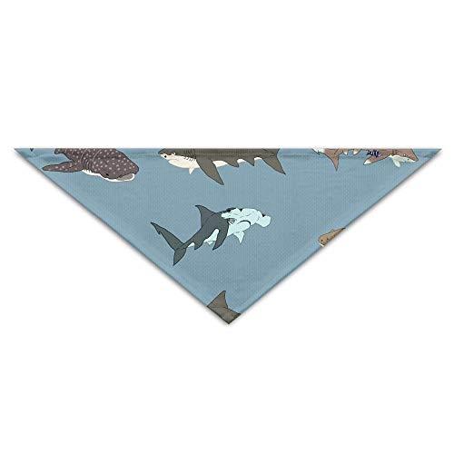 Animation Kostüm - Shark Animation Mode Turban Triangle Scarf Bib Scarf Accessories Pet Cat and Baby Puppy Saliva Dog Towel