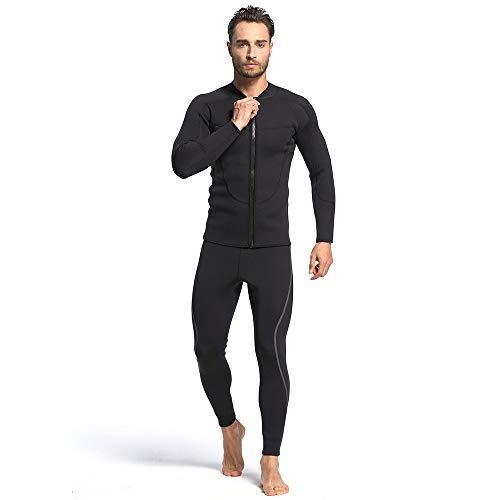 Herren-Wetsuit, 3mm Premium Neoprene Long Sleeve Front Zip One Piece Full Diving Suits Scuba Suit Surfing Suit Schnorchelzug,31,M -