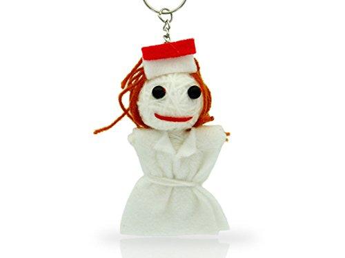 Alsino Voodoo Puppe Püppchen Sorgenpüppchen Voodoopuppe Glücksbringer Voodoll Schlüsselanhänger, wählen:SA-V195 Krankenschwester