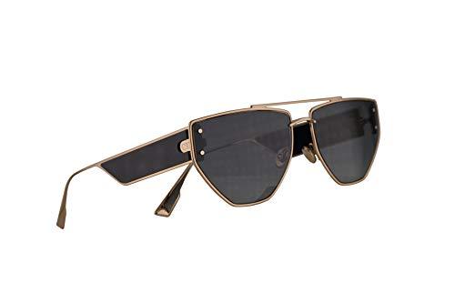 Christian Dior DiorClan2 Sonnenbrille Gold Schwarz mit Grauen Gläsern 61 mm J5G1I Clan 2 Clan2