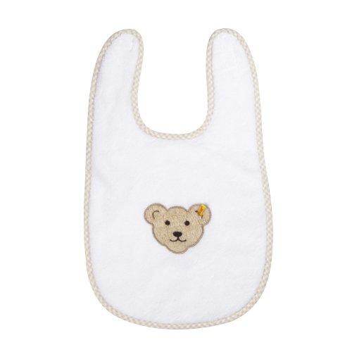 Steiff Unisex - Baby Body Latz, Einfarbig, Gr. One Size (Herstellergröße: 0), Weiß (Bright White White 1000)