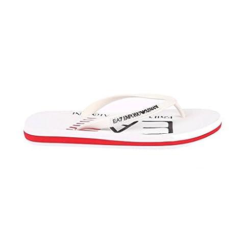 EA7 Emporio Armani Flip Flop Sandalen Seaworld Visibility Weiß (43)