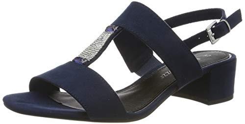 MARCO TOZZI 2-2-28202-22, Sandali con Cinturino alla Caviglia Donna, Blu (Navy 805), 39 EU