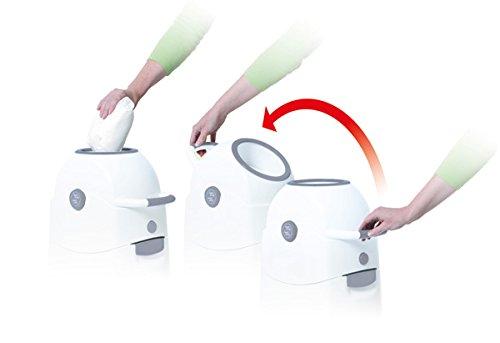 Geruchsdichter Windeleimer Diaper Champ regular silber – für normale Müllbeutel - 6