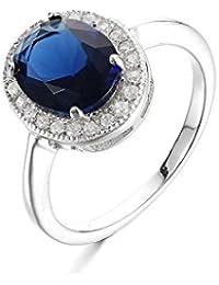 Certified Crt 6.60 - 7.25 Ratti Blue Sapphire Ring ( Nilam / Neelam stone Silver Ring ) 100% Original AAA Quality Gemstone