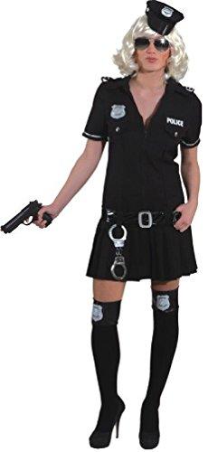 O9674-36 schwarz Police Girl Polizei Kostüm Gr.36