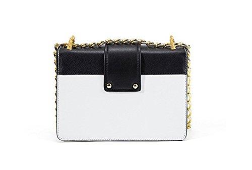 Damen kleine Schlange Weiß Xinmaoyuan Handtaschen Seite Schulter aus Tasche Metall Leder Quadratische Paket diagonal grün Handtaschen Schnalle Kette dTYTx1nU