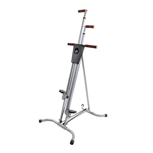 GOTOTOP Máquina de Escalada Marco de Acero para Trabajo Pesado Vertical Escalador Equipo de Ejercicio Cardio en Casa con Pantalla de Conteo Altura Ajustable