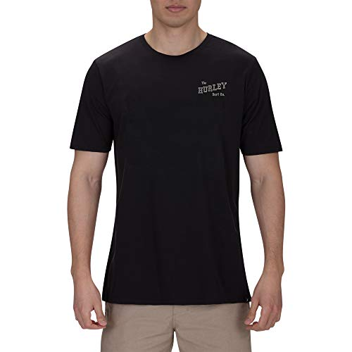Hurley M Slippin tee Camisetas, Hombre, Black, L