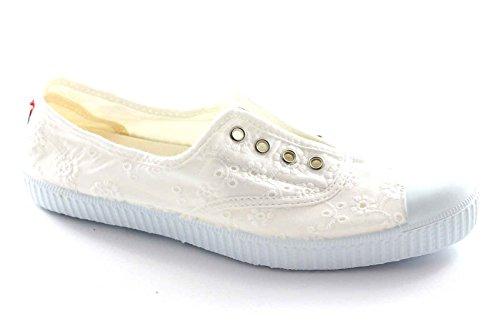 CIENTA 70998 28/34 bianco scarpe bambina elastico tessuto 34