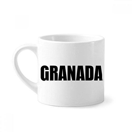 DIYthinker Granada Nicaragua Stadt Name Mini-Kaffeetasse Weiße Keramik Keramik-Schale mit Griff 6 Unzen Geschenk Mehrfarbig