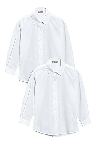 next Fille Lot de deux chemisiers blancs habillés manches longues