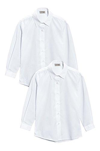 next Niña Júnior Paquete De Dos Blusas De Vestir De Manga Larga Blancas Con Botones Elegante (3-16 años)