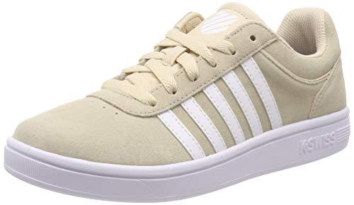 K-Swiss Damen Court CHESWICK SDE Sneaker, Beige (Bleached Sand/White 271), 37 EU