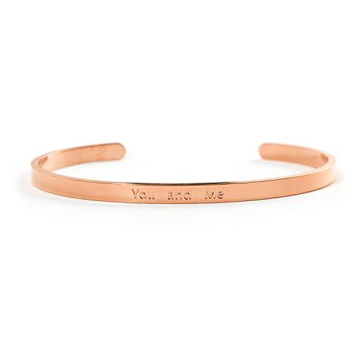 YOU AND ME Armband mit Gravur von Bergerlin – aus Edelstahl in Gold, Silber und Rose Gold – Der Couple Armreif als Geschenk