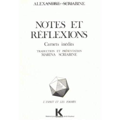 Notes et réflexions: Carnets inédits