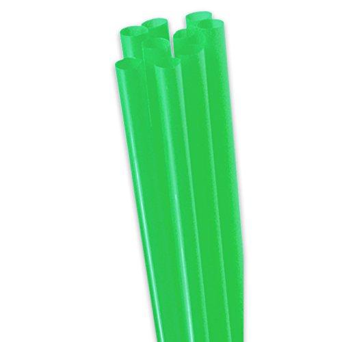 inkhalme - Dicke Strohhalme - 25cm lang, Ø8mm - Plastik Strohhalme für Cocktails, Smoothies, Ice Coffee (grün) ()