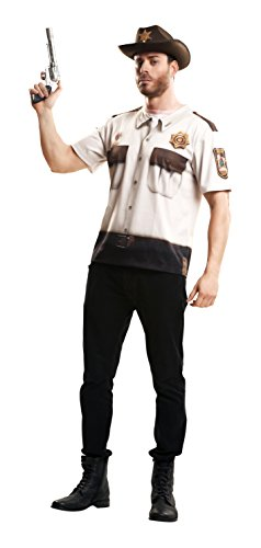Partychimp 83-Y00043 - Sheriff T-Shirt, Erwachsene, M, -
