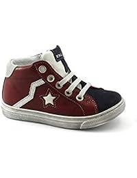Balocchi 983702 Urban 24 29 Ciliegia Rosso Scarpe Bambino Sneaker Mid Lacci  Zip 1c10ac4c147