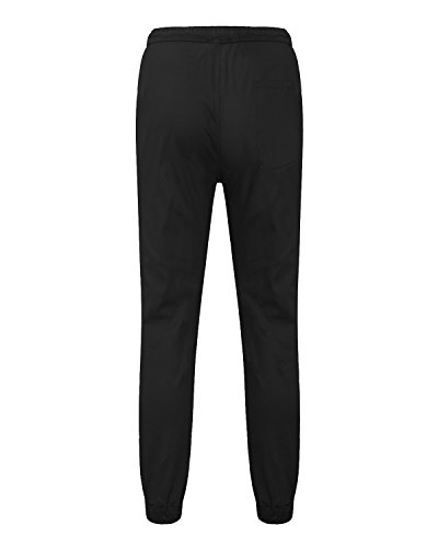 MODCHOK Herren Jogginghose Chino Sweatpants Jogging Freizeithose Cargo Hose Cotton Hose Schwarz 1