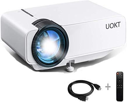 """Mini projecteur, écran Max 200"""" Pris en Charge Full HD 1080p LED Home Cinéma Vidéo Vidéo Projecteur Portable 50 000 Compatible avec Fire TV Stick HDMI VGA TF AV USB Smartphone"""