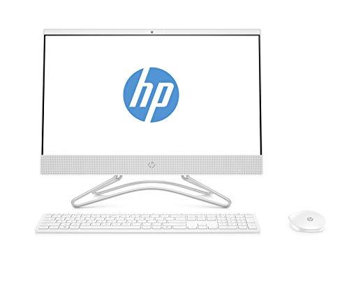 """HP 22-c0218ns - All in One - Ordenador de sobremesa 21.5"""" FullHD (Intel Celeron J4005, 4GB RAM, 500GB HDD, Intel Graphics, Windows 10), Color Blanco, con Teclado QWERTY Español y Ratón"""