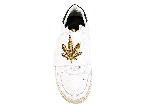 Sneakers Palm Angels homme en cuir blanc - Code modèle: PMIA002S160760680193 Blanc