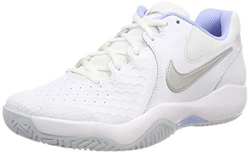 Nike Wmns Air Zoom Resistance, Scarpe da Tennis Donna, Bianco (White/Metallic Silver-Pure Platinum 103), 38.5 EU