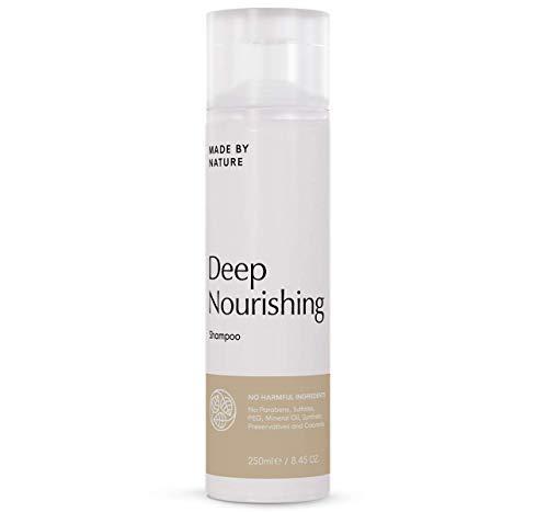 Feuchtigkeitsshampoo - MADE BY NATURE Intensives Feuchtigkeit Haarshampoo - Für weiches, glänzendes Haar - Parabene und Sulfat freie Formel - Nährt geschädigtes Haar - Ganz natürlich