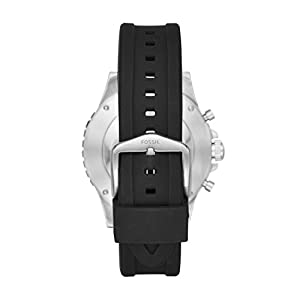 FOSSIL Hybrid Smartwatch Q Crewmaster Black SiliconeMens Quartz Wrist Watch With Activity Tracker Water Resistant